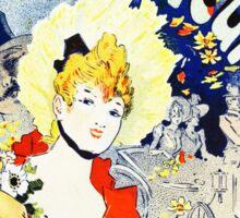 Vintage Jules Cheret 1896 Sticker