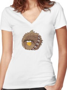 Chewie the Determined Bird Women's Fitted V-Neck T-Shirt