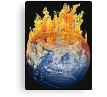 Earth global warming Canvas Print