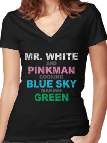 Breaking Bad Colors Women's Fitted V-Neck T-Shirt