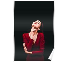 conceptual photo red dress II Poster