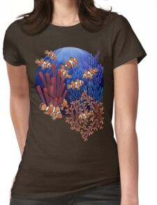 Clown fish tank Womens Fitted T-Shirt