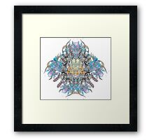Psychedelic flower bouquet Framed Print