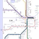 Adelaide train and tram map by Railmaps
