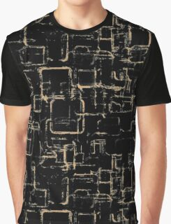 Abstraction. Graphic monochrome pattern. Graphic T-Shirt