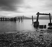 Port Bannatyne Wooden Pier by Angie Morton