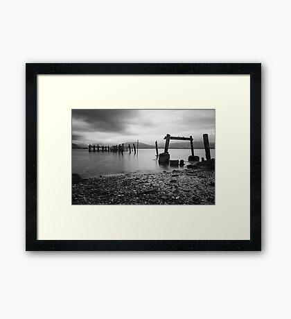 Port Bannatyne Wooden Pier Framed Print