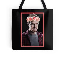 Benedict Cumberbatch in a Flower Crown Tote Bag