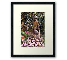 Rustic garden sculpture Framed Print