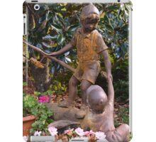 Rustic garden sculpture iPad Case/Skin