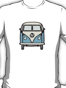 Blue White Campervan (slightly cubist) T-Shirt