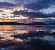 Rothesay Bay at Sunset by Angie Morton