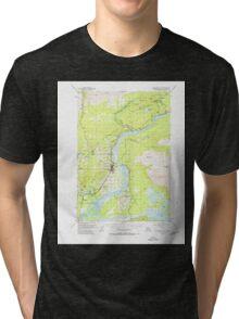 USGS TOPO Map Alaska AK Anchorage C-6 354008 1951 63360 Tri-blend T-Shirt