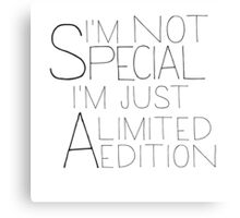i'm a limited edition Canvas Print