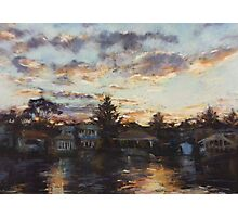 Narrabeen lakes - sunset Photographic Print