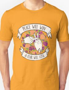 Peace will win floral Unisex T-Shirt