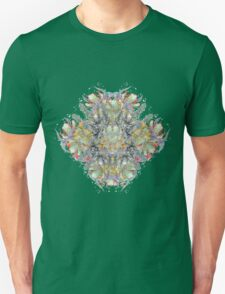 Psychedelic flower red bouquet Unisex T-Shirt