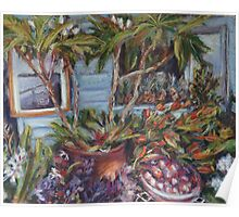 Flower & fruit stall Poster