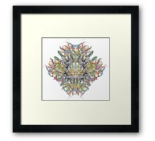 Psychedelic flower red bouquet Framed Print