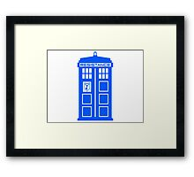 Blue Box Resistance Framed Print