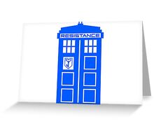 Blue Box Resistance Greeting Card