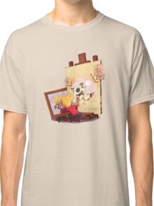 calvin was painting Hobbes Classic T-Shirt