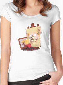 calvin was painting Hobbes Women's Fitted Scoop T-Shirt