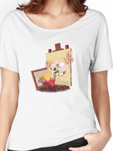 calvin was painting Hobbes Women's Relaxed Fit T-Shirt