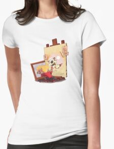 calvin was painting Hobbes Womens Fitted T-Shirt