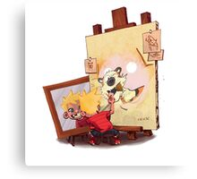 calvin was painting Hobbes Canvas Print