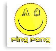 Ping Pong Metal Print