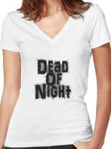 Dead of Night Logo text Women's Fitted V-Neck T-Shirt