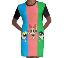 Powerpuff Girls Graphic T-Shirt Dress