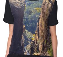 Tunnel View Lookout, Blue Mtns National Park, NSW Chiffon Top