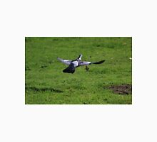 Wood pigeon flying with twig Unisex T-Shirt