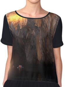 Cave with Underground River Chiffon Top