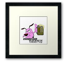 Cheers And Beers Courage Dog Framed Print