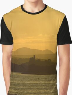 Twilight over Derryveagh mountains - with O'Doherty Castle from Inch Level Graphic T-Shirt
