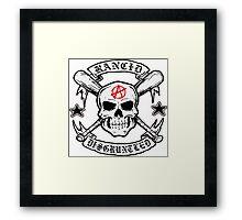 Rancid bone punk music Framed Print