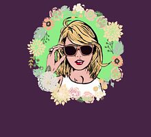 Taylor swift floral Womens Fitted T-Shirt
