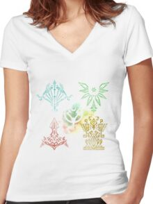 Tales of Zestiria - Elemental and Shepherds sigils Women's Fitted V-Neck T-Shirt