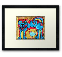 Catius Maximus and the little Blue Bird  Framed Print