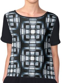 Industrial Mandala, glass and metal Chiffon Top