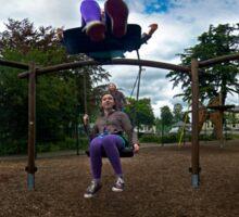 3  Kids on a Swing Sticker