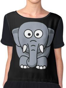 Elephant cartoon Chiffon Top