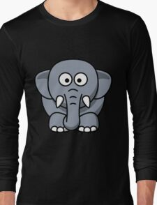 Elephant cartoon Long Sleeve T-Shirt