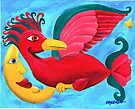 Red Bird and the Moon by Kayleigh Walmsley