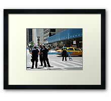 Do Not Cross - Police Line Framed Print