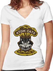 Fallout 4 - Atom Cats Women's Fitted V-Neck T-Shirt