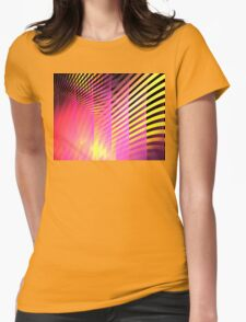 Pink Skyscrapers Womens Fitted T-Shirt